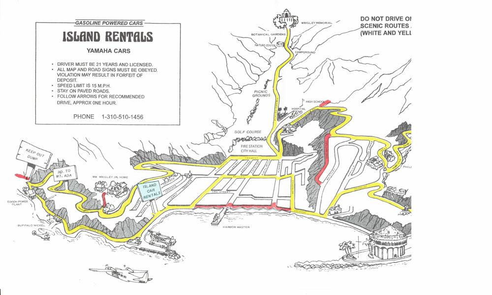Island Rentals Golf Cart Map